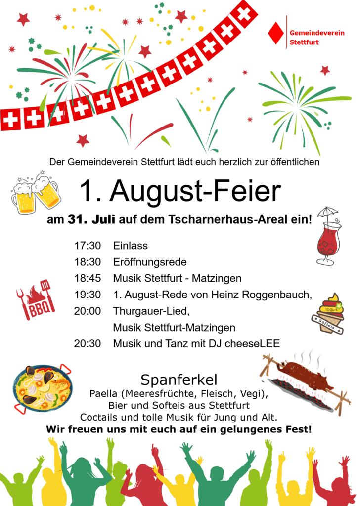 Flyer 1. August 2021 Stettfurt